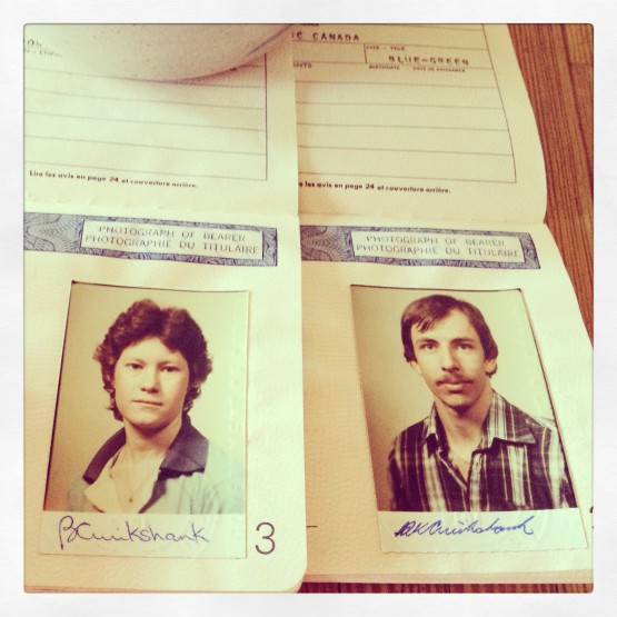 Our first passports -- 1981