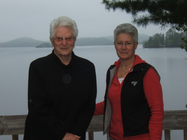 Mom and I in cottage country. Ontario Fall 2009