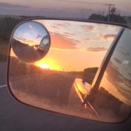 side mirror shot