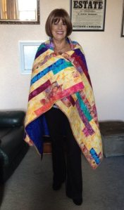 Jennie with quilt