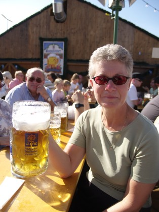 A liter of beer at Oktoberfest