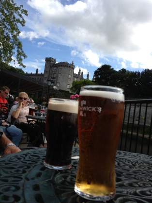 Ah life is good if you have a beer on a patio overlooking a castle