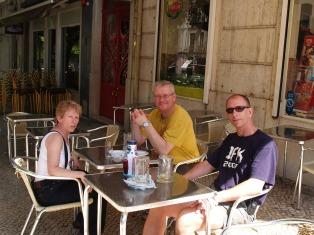 Lisbon, beer loading before the biking