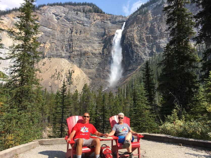 Red Chairs @ Takakkaw Falls