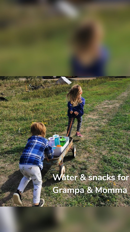 Water & snacks for Grampa & Momma